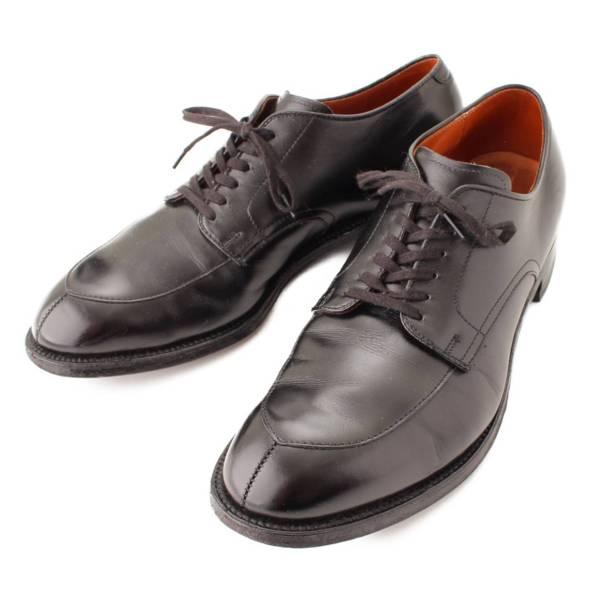 SHIPS別注 Vチップ カーフ レザー ドレスシューズ 革靴 54313 ブラック 9 1/2 D