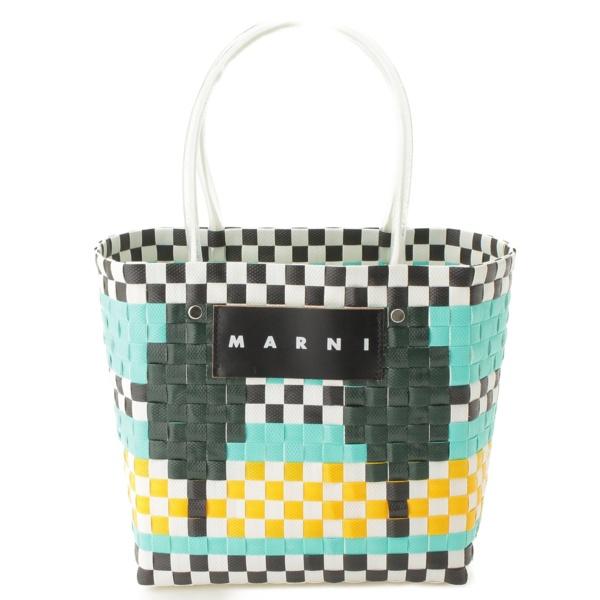 マルニ フラワーカフェ ピクニック カゴバッグ トートバッグ
