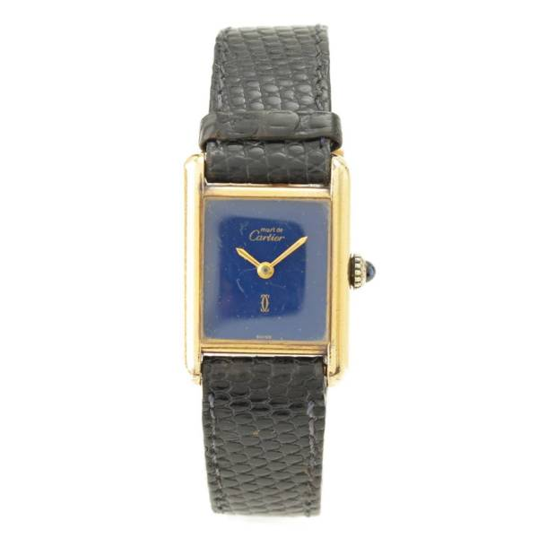 ヴィンテージ マストタンク ヴェルメイユ 手巻き 腕時計 ラピスブルー 動作確認済