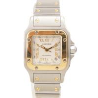 サントス ガルベ 自動巻き 腕時計 W20045C4 シルバー×ゴールド