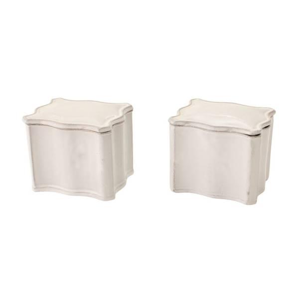 コルベール・ボックス BTECLB1  2点セット 陶器 ホワイト