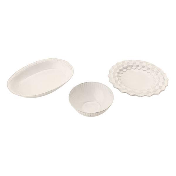 プレート ボウル at0353 3点セット 陶器 食器 ホワイト