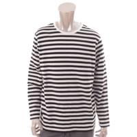 メンズ ボーダー バスクシャツ トップス ブラック ホワイト 40