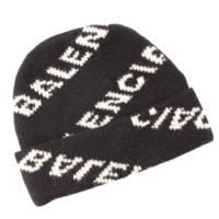 19SS オールオーバー ロゴ ニットキャップ 帽子 558950 ブラック