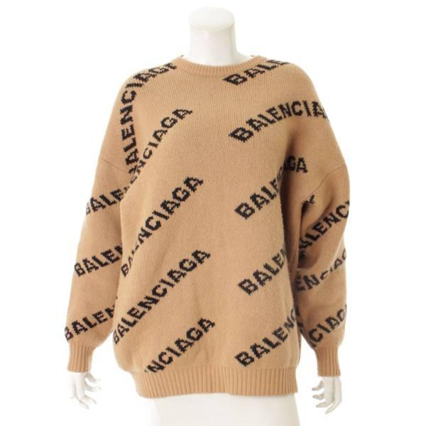 ロゴニット セーター 581027 ブラウン  S