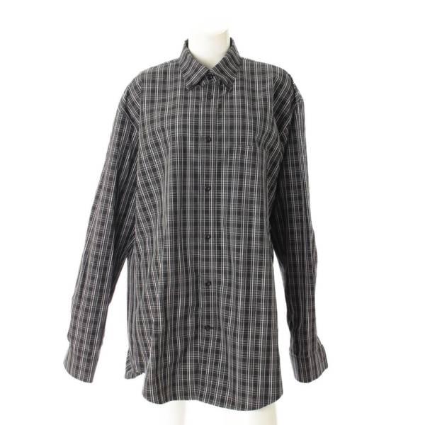19SS チェックシャツ 571253 ブラック 36