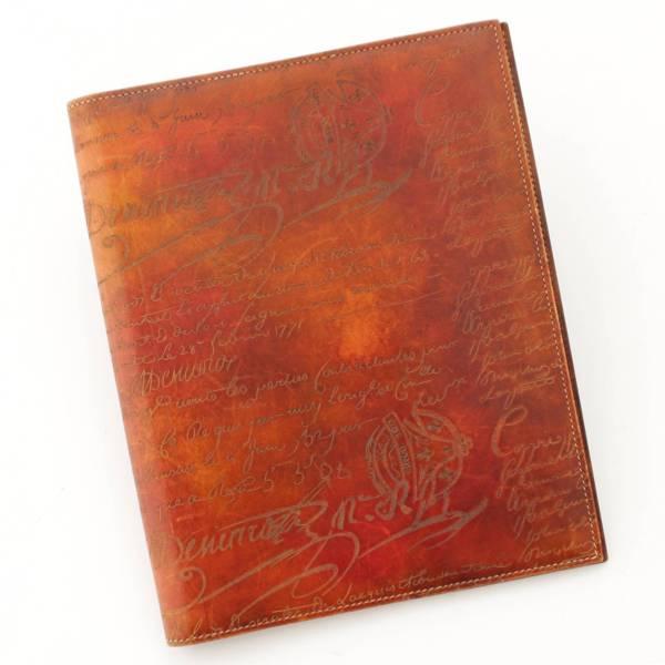 カリグラフィ 手帳カバー ブックカバー ブラウン