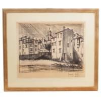 特別価格 ベルナール・ビュフェ限定版画「オルモー広場」最近再注目作家の代表作 絵画