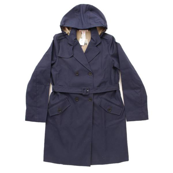 フード トレンチ コート ネイビー 12