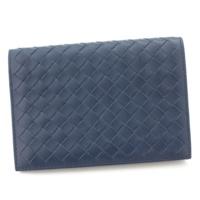 イントレチャート レザー 二つ折り財布 札入れ パシフィックブルー
