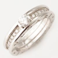 B-zero1 ビーゼロワン 1Pダイヤ ハーフダイヤ リング 指輪 #52 9号