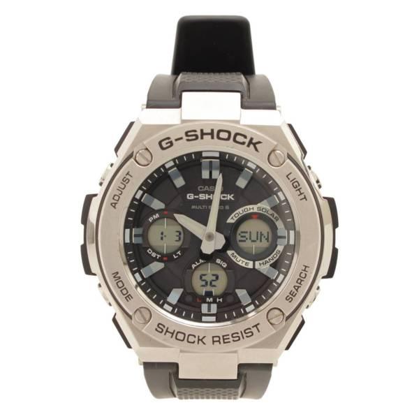 腕時計 G-SHOCK Gショック 電波 ソーラー GST-W110 ラバーベルト シルバー
