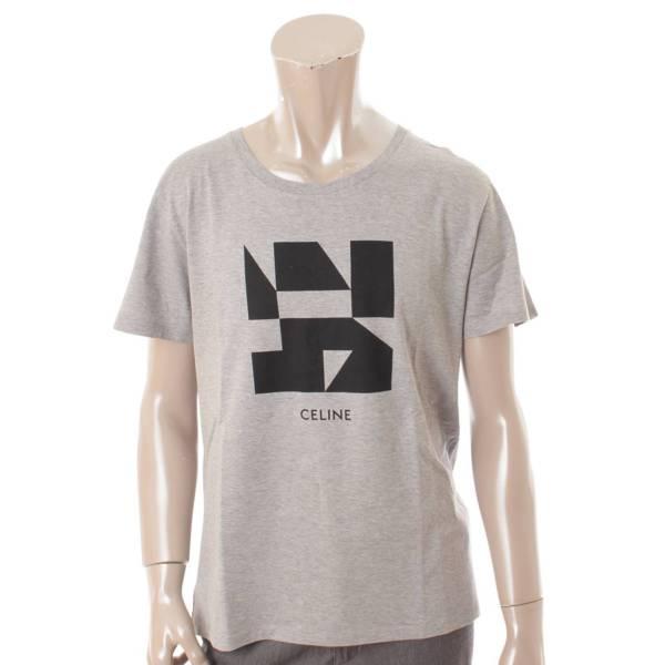 19SS Geometric Print Tシャツ ジオメトリックプリント エディ 2X308933F グレー L