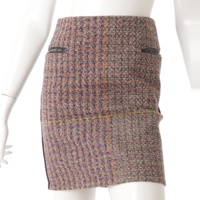 ジップ ツイード スカート マルチカラー 34