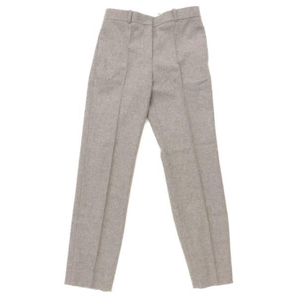 センタープレス ウール スラックス パンツ グレー 34