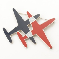 16S エアライン 飛行機モチーフ ピンブローチ