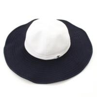 ココマーク ハット 帽子 ホワイト×ネイビー 58