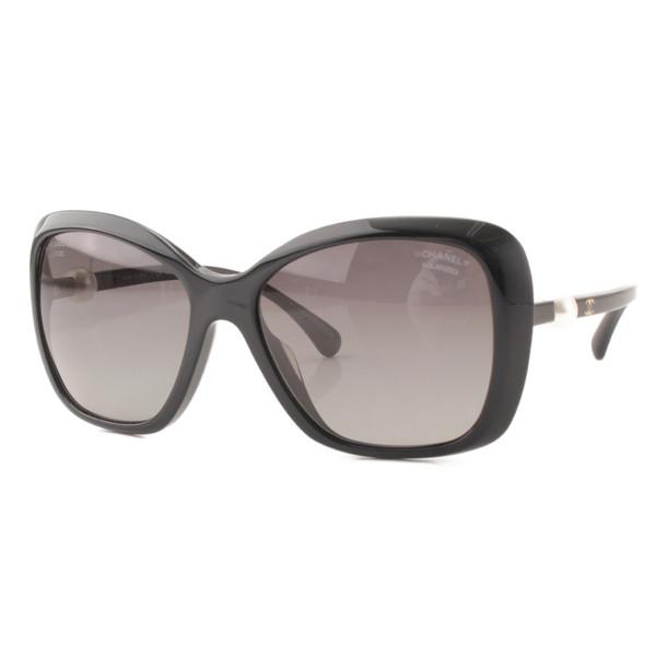ココマーク フェイクパール サングラス 5303-H-A ブラック 57□17