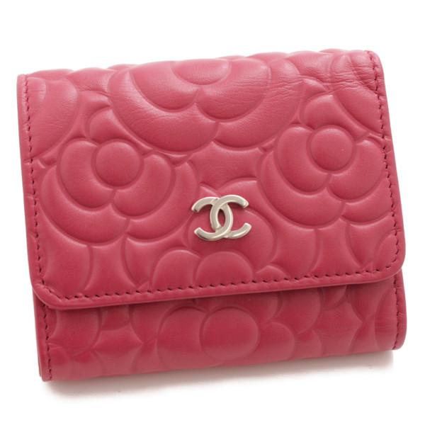 ココマーク カメリア 三つ折り財布 スモールウォレット A82548 ピンク