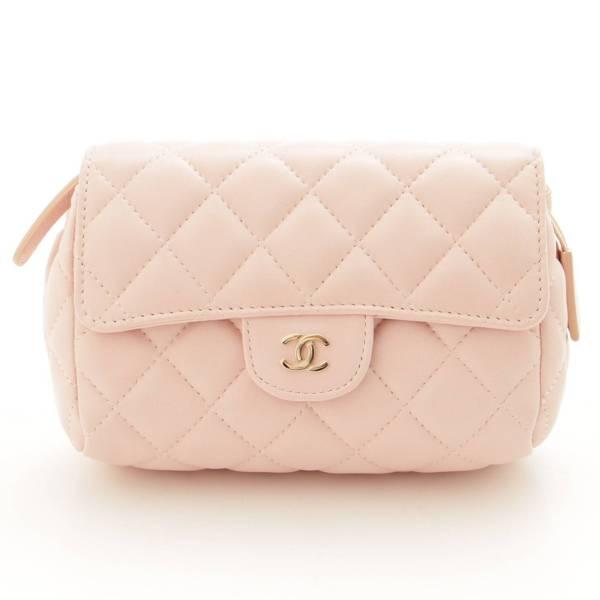 マトラッセ ミラー付き 化粧ポーチ 小物入れ ピンク 17番台
