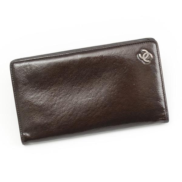 ココマーク パテント 二つ折り 長財布 カーキ