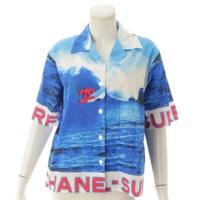 02S サーフライン ハイサマー アロハ シャツ P19544 ブルー 38
