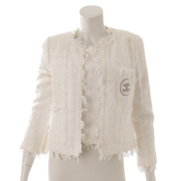 2004年 銀座限定 ココマーク パール ジャケット トップス セット 05C ホワイト