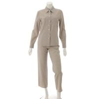 ヴィンテージ ウール シャツ スラックスパンツ PO7413 グレージュ 34