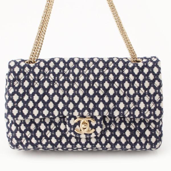 online retailer 7afaf c2e69 シャネル(Chanel) マトラッセ ダブルフラップ ツイード チェーン ...
