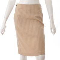 01S ココボタン ストライプ スカート ベージュ 36