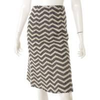 02A ココマーク ラインストーン ツイード スカート P19873 ブラック×ホワイト 38