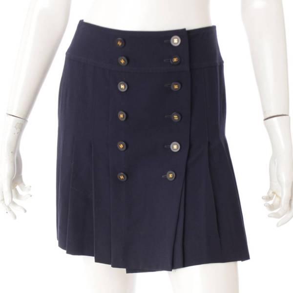 94P ココマーク ボタン スカート P03007 ネイビー 34