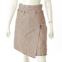11P フロントポケット ココマーク ツイード スカート P41005 ピンク 38