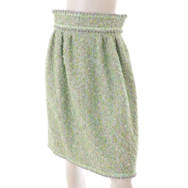 ココボタン ツイード スカート P58340 グリーン 38