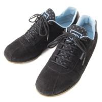 スポーツライン スエード スニーカー A23285 ブラック×ライトブルー 36 1/2