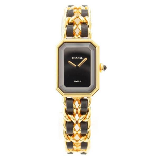 プルミエール 腕時計 H0001 ゴールド ブラック S 電池交換済