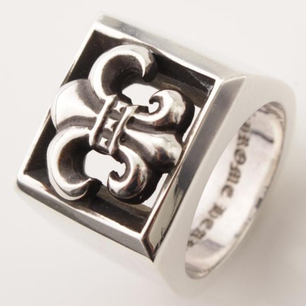 レターブロックリング BSフレア 指輪 SV925 シルバー 19号