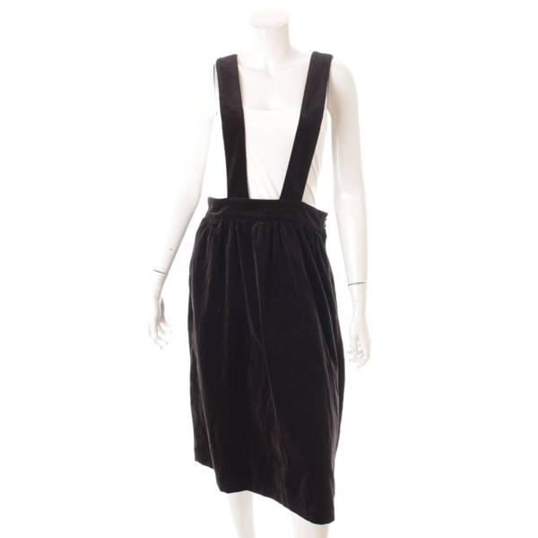 ガール AD2015 ベロア ジャンパースカート ワンピース NP-A006 ブラック S