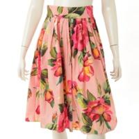 花柄 スカート フラワー ピンク 38