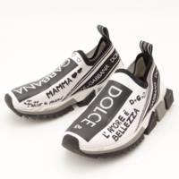 ニットアッパー ソレント スニーカー ホワイト ブラック 37.5