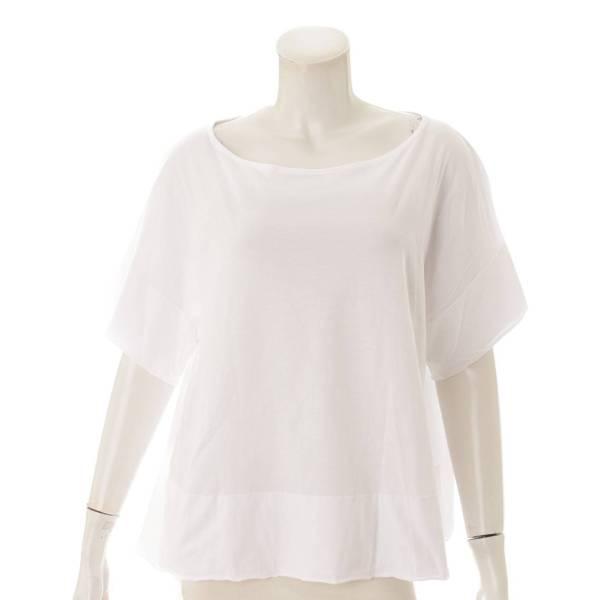 オーバーサイズ 半袖 コットン Tシャツ カットソー ホワイト 2