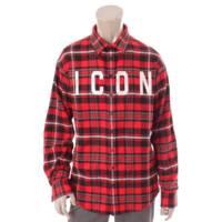 ICON チェックシャツ S74DM0273 レッド×ブラック 44