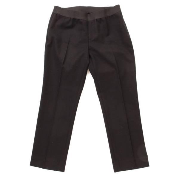 ウエストゴム スラックス パンツ ブラック 40