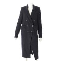 ウール ロングコート ブラック 36