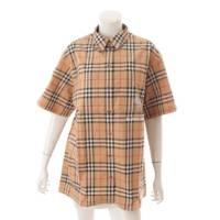 ロゴ刺繍 ノバチェック ハーフスリーブシャツ 半袖 ベージュ 42