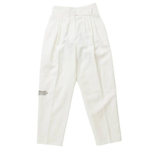 20SS ロゴ スラックス パンツ プリント ホワイト UK4