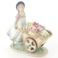 LLADRO リヤドロ 可愛いお花屋さん 陶器人形 置物 少女 女の子 6521