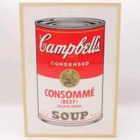 絵画:アンディ・ウォホール :キャンベルスープ(BEEF)S・B・モーニング版