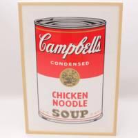 絵画:アンディ・ウォーホル:キャンベルスープ(Chiken Noodele) S・B・モーニング版