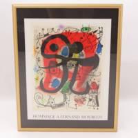 絵画:Joan Miro『HOMMAGEA FERNAND MOURLOT』